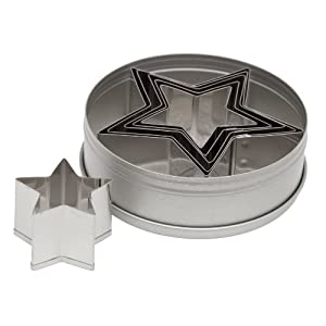 Ateco 6-Piece Graduated Star Cookie Cutter Set