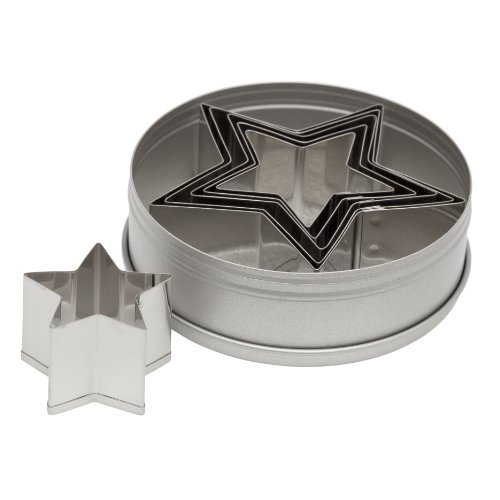 Ateco 6-Piece Graduated Star Cookie Cutter Set (Ateco 6 Cutters compare prices)