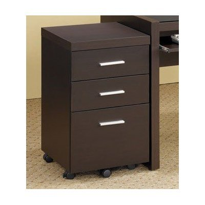 Home Office File Cabinet in Cappuccino Finish