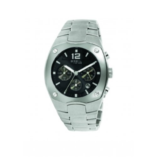 Breil Mens WatchTW0631 with Stainless Steel Bracelet and Black Dial