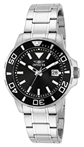 Invicta Men's Quartz Watch with Black Dial Chronograph Display and Silver Stainless Steel Bracelet 15178