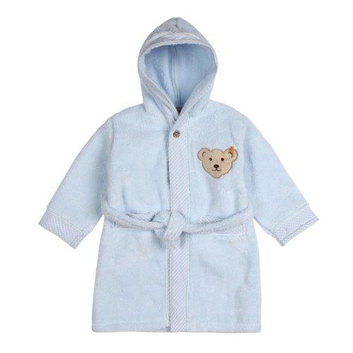Steiff Unisex - Baby Bademantel 0002907, Blau (3023 ), 74 (Herstellergröße: 74/80)