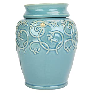 Tall Light Blue Electric Tart Warmer