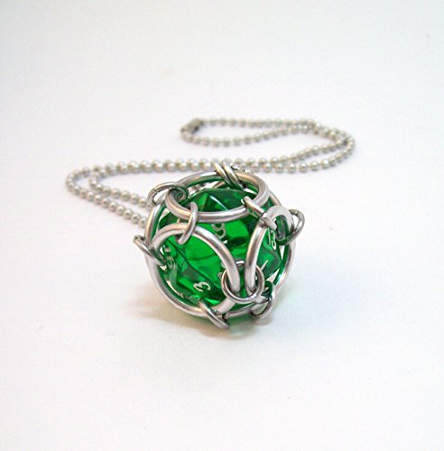dice necklace, D20, D20 necklace, geek, necklace, dice pendant