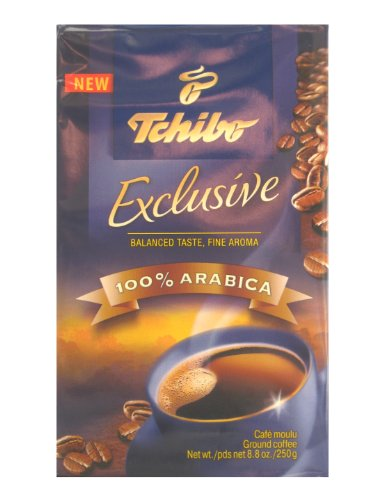 Tchibo Exclusive Coffee, Premium Ground, 8.8-Ounce Vacuum Packs (Pack Of 4)