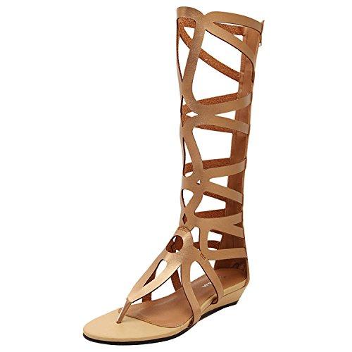 oasap-femme-sandals-tige-haute-zip-ete-style-rome-or-euro39-us8-uk6