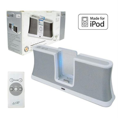 iLive iPod Speakers with Remote Control - White