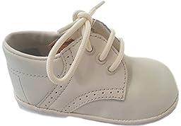 iGirlDress Baby Boys Oxford Christening Shoes ivory size 7