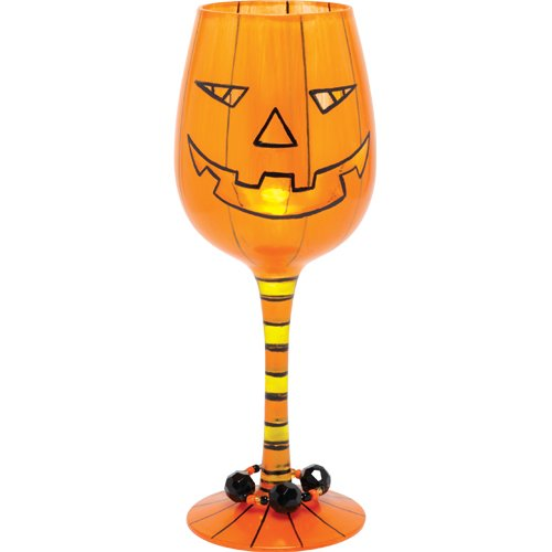 Lolita Halloween Pumpkin Potion Wine Glass