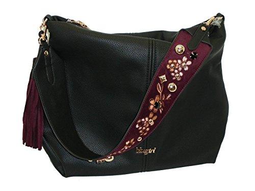 Borsa sacca un manico BLUGIRL BG 830001 women handbag nero
