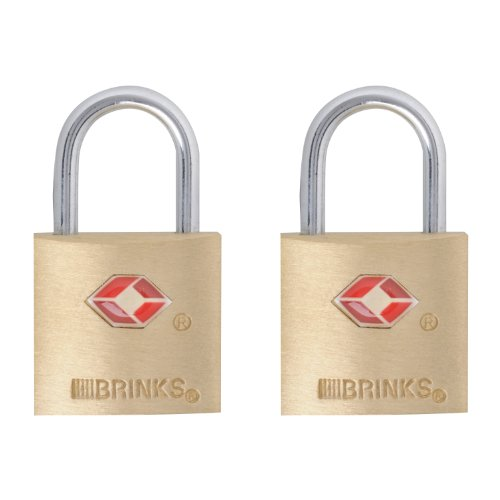 Brinks 161-20271 TSA Approved 20mm Luggage Lock Solid Brass, 2-Pack