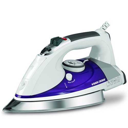BLACK+DECKER IR1350S Professional Steam Iron, White/Purple