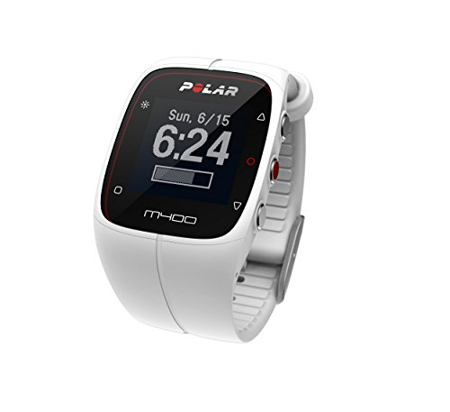 Polar M400 GPS Sports Watch and Activity Tracker with Heart Rate Monitor - White