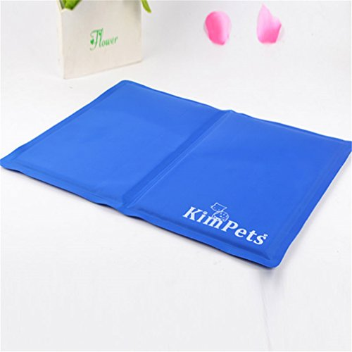 InTheHouse Summer Pet Bed Cooler Dog Cat Cooling Mat Laptop Cushion Pad Gel Multifunction 12*16″, Blue, S