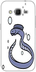 Snoogg eel fish vector cartoon illustration Hard Back Case Cover Shield For Samsung Galaxy Grand Prime