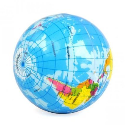 World Map Foam Earth Globe Stress Relief Foam Ball Bouncy Elastic Soft Toy Gift
