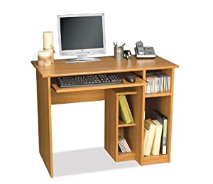 Bestar Basic Computer Workstation, Cappuccino Cherry