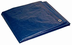 Dry Top 20403 20-by-40-Foot Full Finish Size Tarp, 5-Millimeter, 2.9-Ounce, Blue