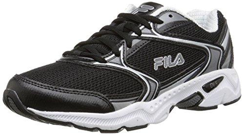 Fila Women's Xtent 2 Running Shoe, Black/Dark Silver/White, 8 M US