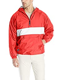 Charles River Apparel Men's Classic Striped Pullover, Red/White, X-Large