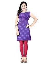 1 Stop Fashion Fancy Purple Color Cotton Party wear Designer Kurti-BESFK112605-M