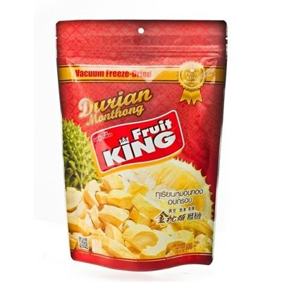 King Fruit - Vacuum Freeze Dried Durian Fruit - 3.5 Oz (Monthong Chunk) (1 Bag) (Fruit King compare prices)
