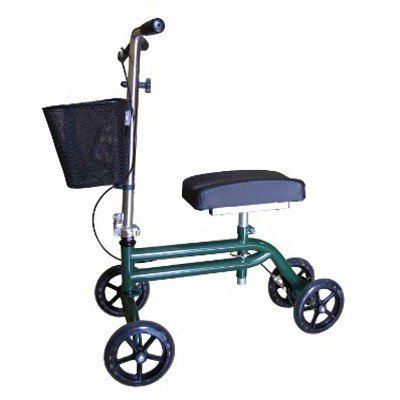 Steerable Knee Walker Scooter Green