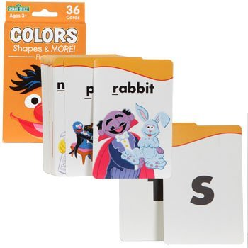 SESAME STREET FLASH CARDS - COLORS SHAPES & MORE! 36 cards NEW IN BOX! - 1