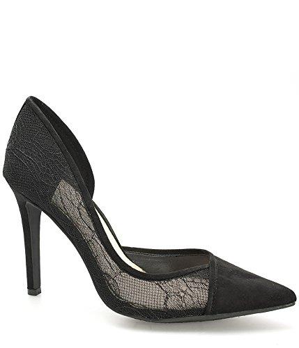 Jessica Simpson scarpe da donna Decolletè a punta in pizzo Cavilla - Nero-39
