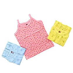 Baby Bucket Printed Sleeveless Vests 3 Pcs. Set (color may vary.)3-6 Months, Pink