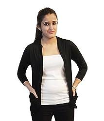 Trendy Black pocket shrug by Bfly