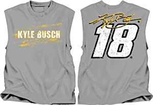 Buy Checkered Flag Sports NASCAR Kyle Busch # 18 Muscle Shirt - Grey by Checkered Flag