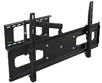 Black Dual Arm Tilt / Swivel Extension Wall Mount Bracket for LCD LED Plasma DLP HDTV TV 37 - 63 inches screen