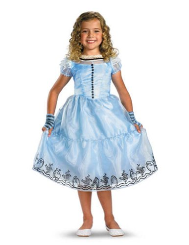 Kids-costume Alice Blue Dress Child Deluxe 7-8 Halloween Costume - Child 7-8