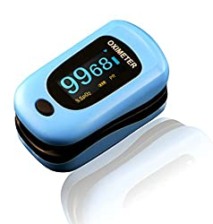 Newnik Fingertip Pulse Oximeter With Audio-Visual Alarm, Blue