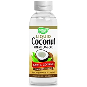 Liquid Coconut Premium Oil Nature's Way 10 oz Liquid