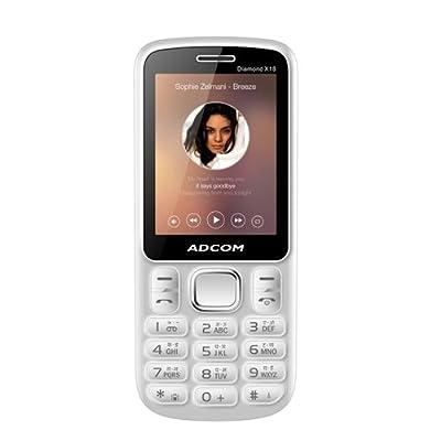 Adcom X18 (Diamond) Dual Sim Mobile-White & Blue