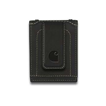 Carhartt Men's Magnetic Front Pocket Wallet, Black, One Size