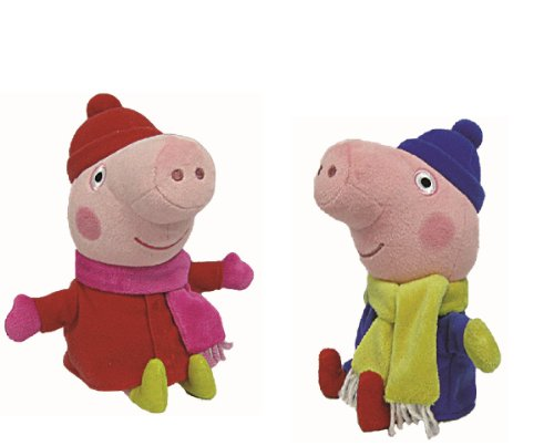 Imagen principal de TY Beanie Babies Peluche Peppa Cerdo Peppa y George Invierno