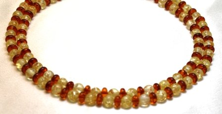 Amber Necklaces 2 Strands Amber Beads Beaded Necklace 17