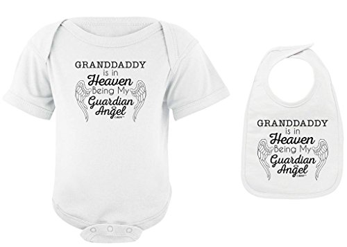 Baby Gifts For All Granddaddy Heaven Being Guardian Angel Bodysuit Bib Bundle