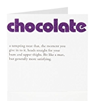 Dictionary Chocolate Birthday Card