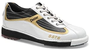 Dexter Men's SST 8 Bowling Shoes, White/Black/Gold, 14