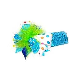 Bizzy Bumpkins Polka Dots & Maribou Big Bow Headband