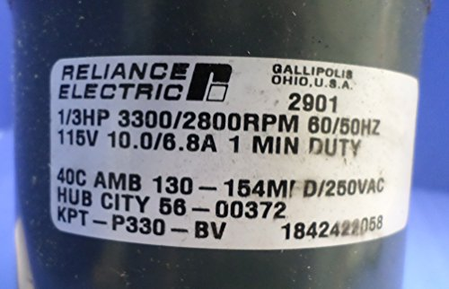 1/3 Hp 3300/2800Rpm 60/50Hz 115V 10.0/6.8A