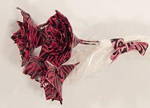 Hot Pink Zebra Print Duct Tape Decorative Flower Bouquet