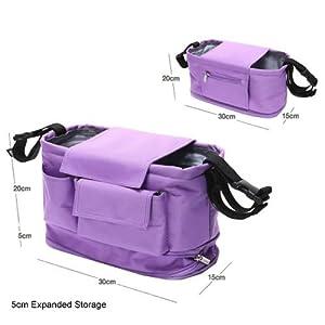baby stroller organizer bag mummy diaper nappy bags infant pushchair pram travel storage bag. Black Bedroom Furniture Sets. Home Design Ideas