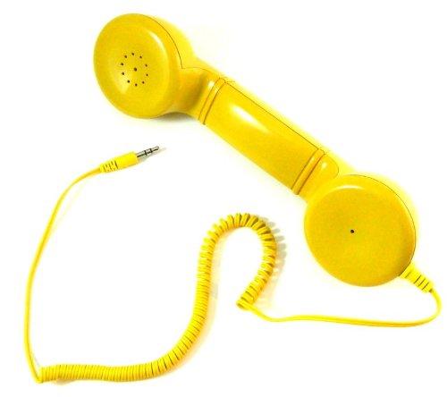 Retro Yellow Telephone Style Headset Iphone/Nokia/Samsung My-1978