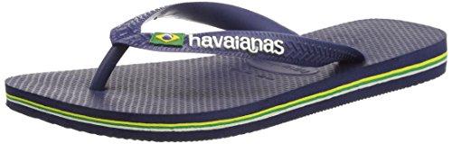 Havaianas Navy Blue Brasil Logo Flip Flops   - 41/42 EU (39/40 BR)