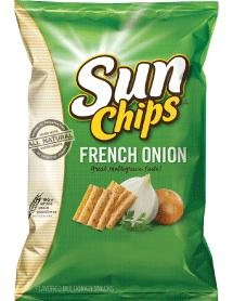 Frito Lay Sun Chips French Onion Flavored Multigrain Snacks, 2 Oz Bags (Pack of 28)